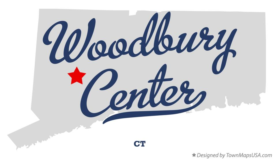 Map of Woodbury Center Connecticut CT