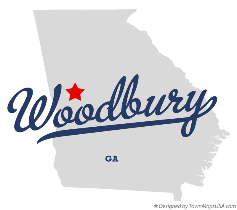 Map of Woodbury Georgia GA