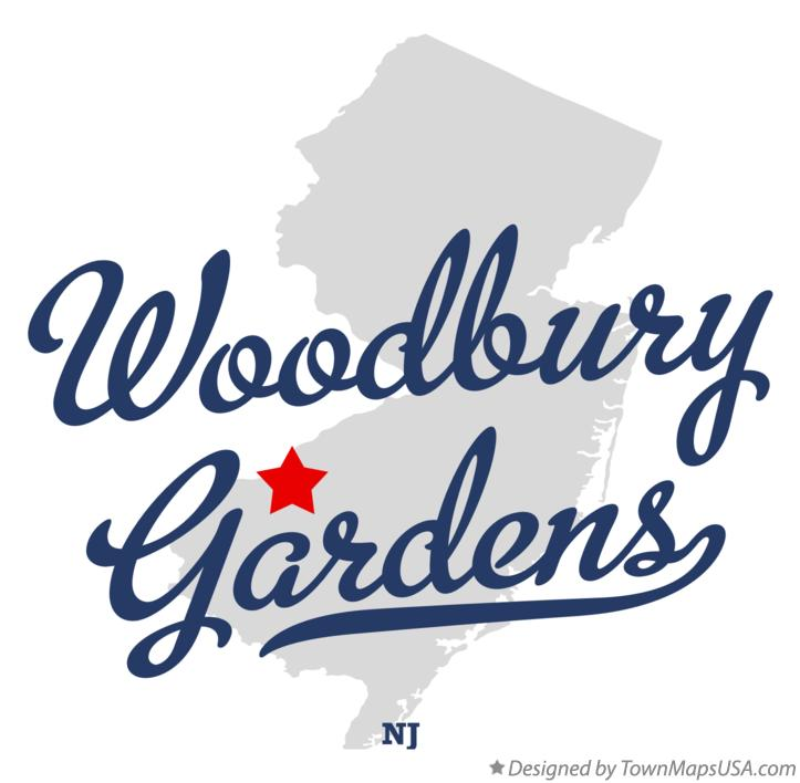 Map of Woodbury Gardens New Jersey NJ