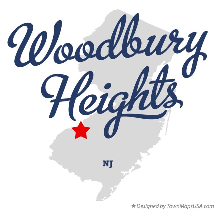 Map of Woodbury Heights New Jersey NJ
