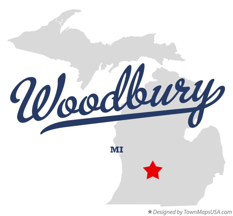 Map of Woodbury Michigan MI