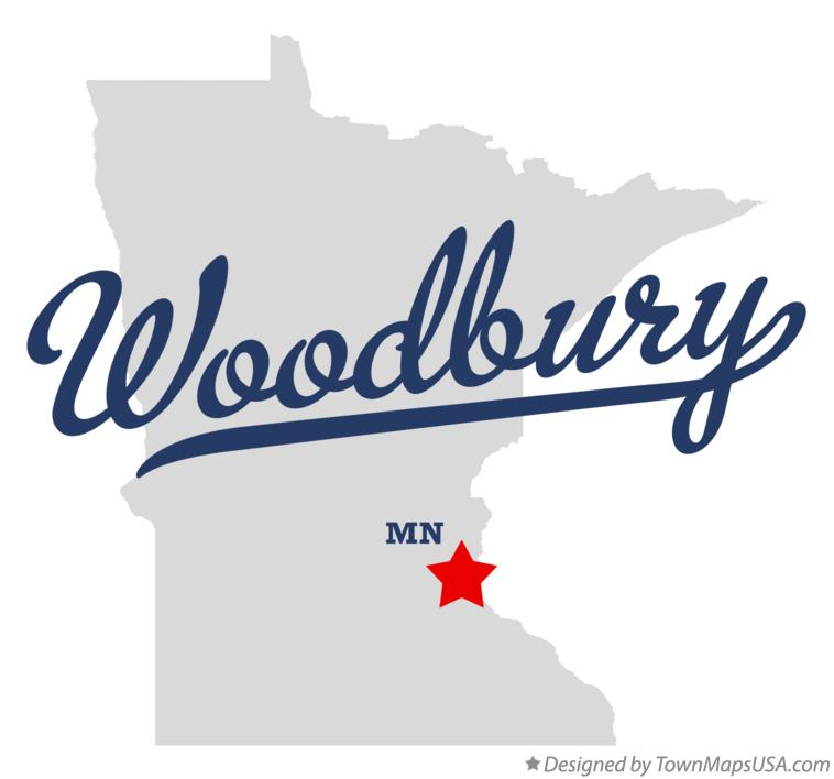 Map of Woodbury Minnesota MN