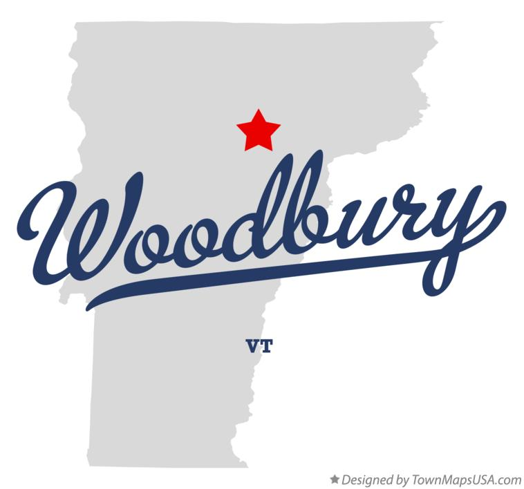 Map of Woodbury Vermont VT