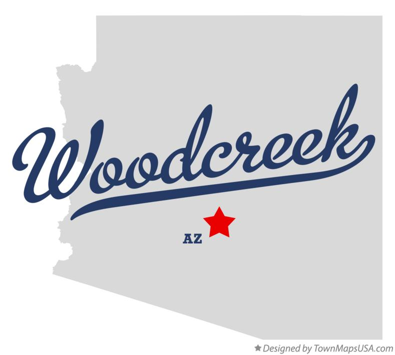 Map of Woodcreek Arizona AZ