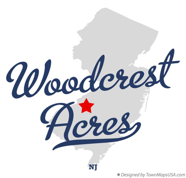 Map of Woodcrest Acres New Jersey NJ