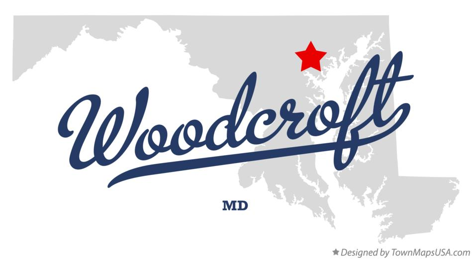 Map of Woodcroft Maryland MD