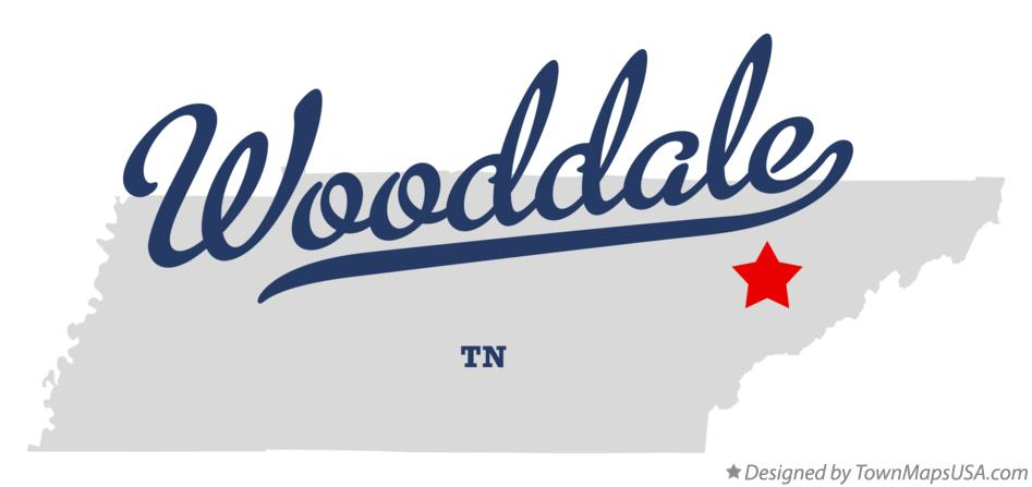 Map of Wooddale Tennessee TN