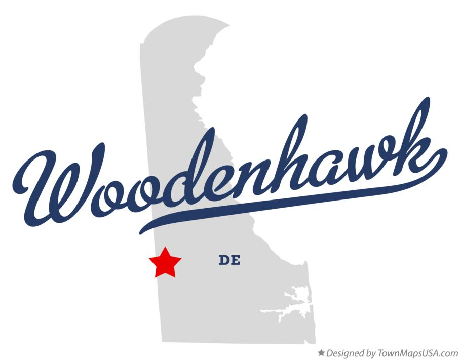 Map of Woodenhawk Delaware DE