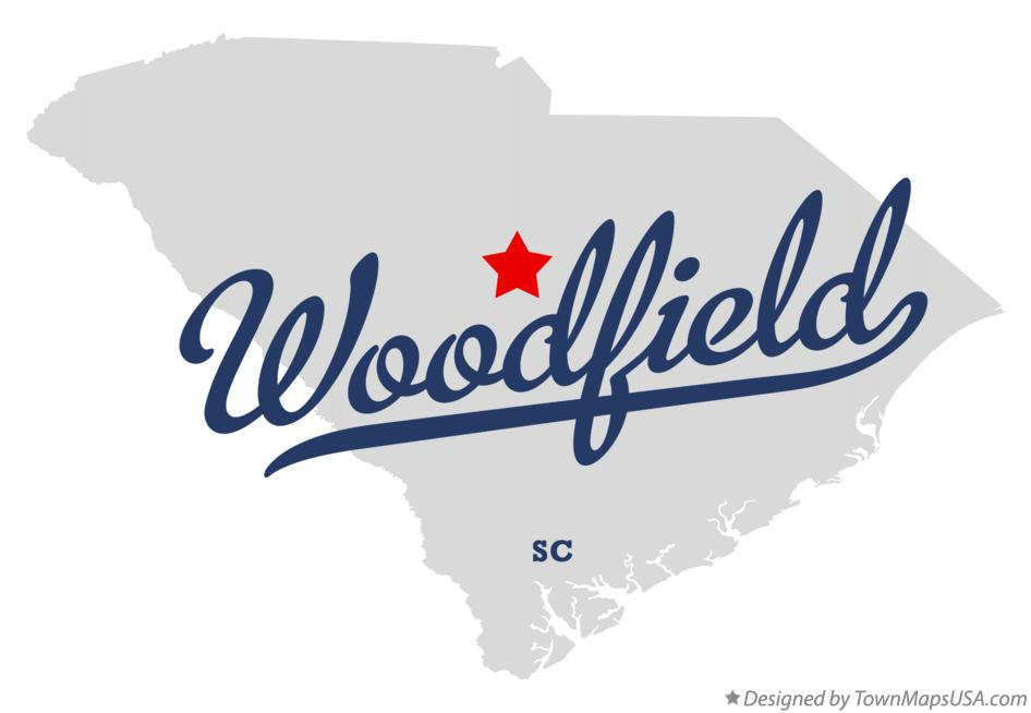Map of Woodfield South Carolina SC