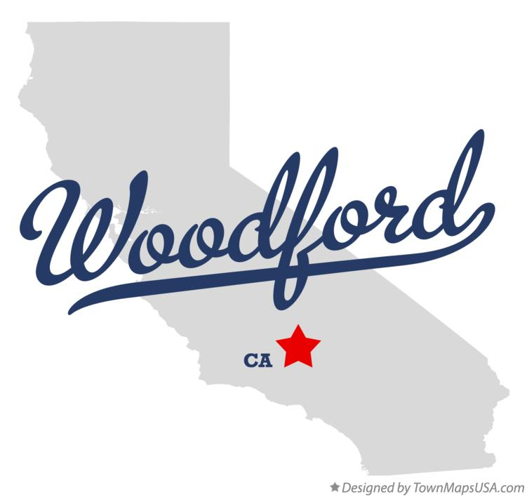 Map of Woodford California CA