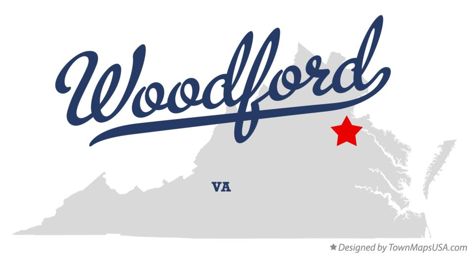 Map of Woodford Virginia VA