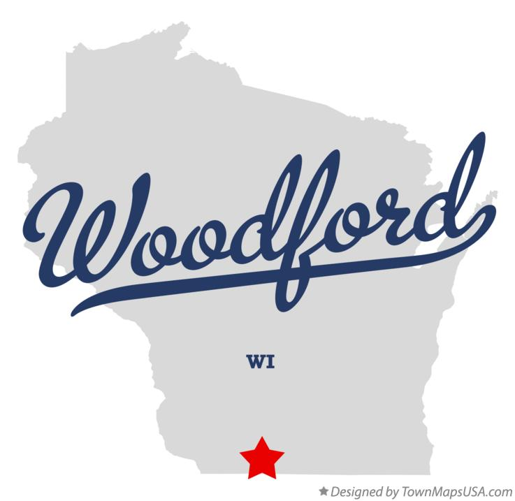Map of Woodford Wisconsin WI