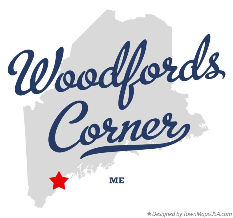 Map of Woodfords Corner Maine ME