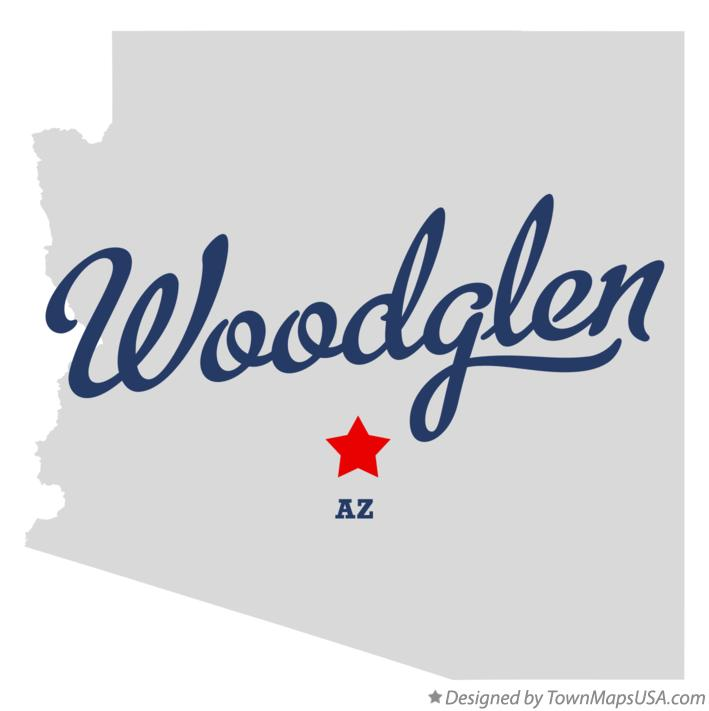 Map of Woodglen Arizona AZ