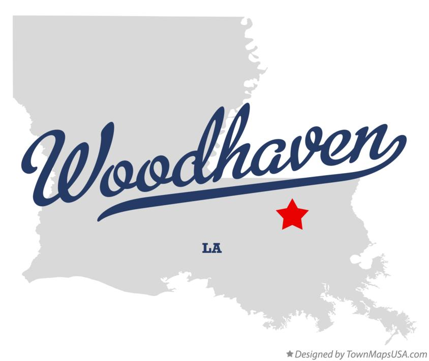 Map of Woodhaven Louisiana LA