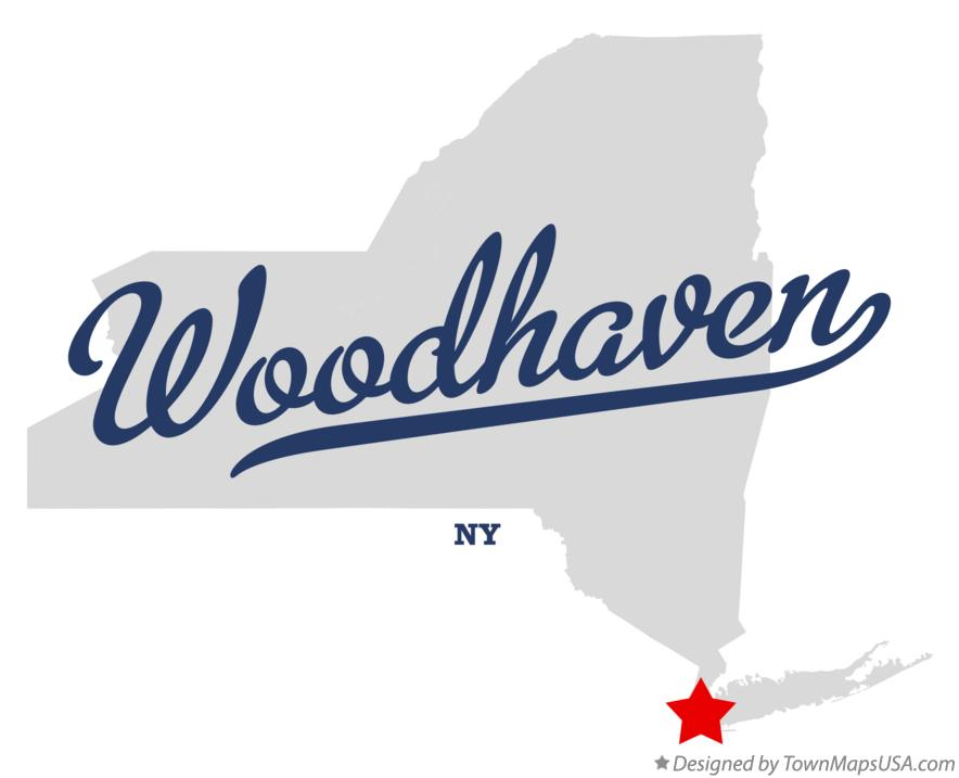 Map of Woodhaven New York NY