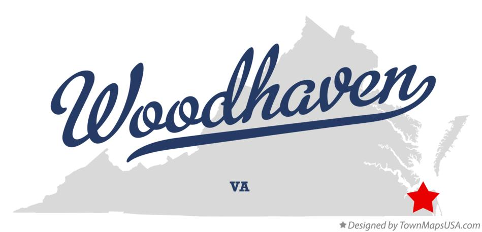 Map of Woodhaven Virginia VA