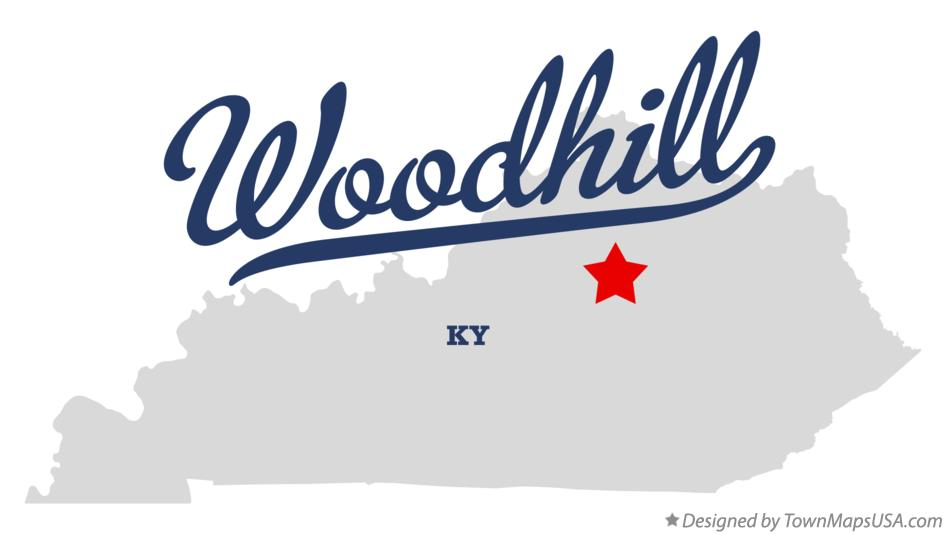 Map of Woodhill Kentucky KY