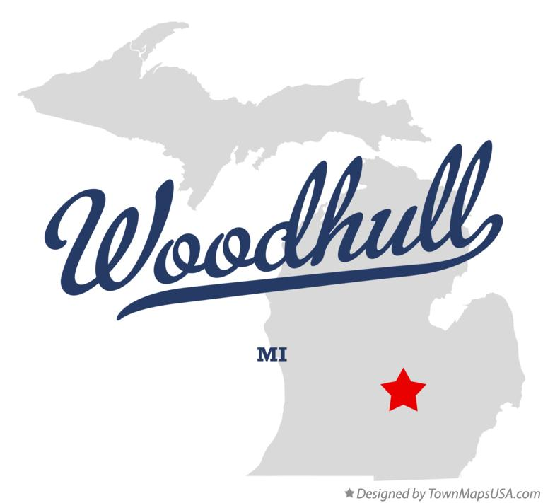 Map of Woodhull Michigan MI