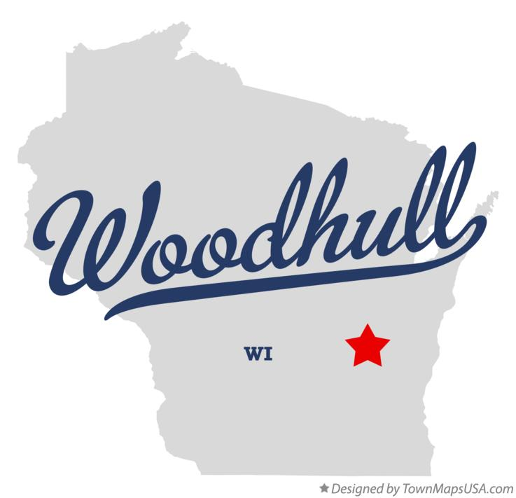 Map of Woodhull Wisconsin WI