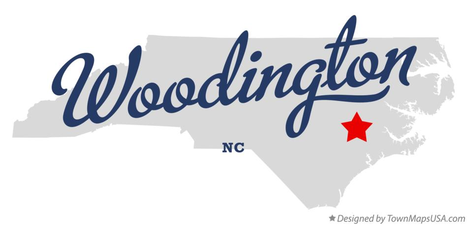 Map of Woodington North Carolina NC