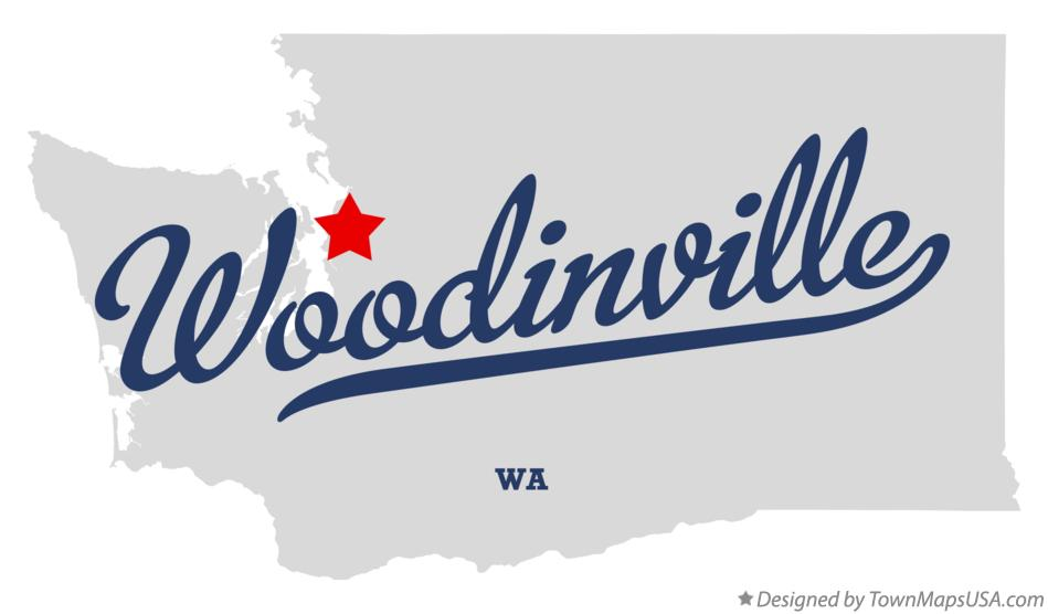Map of Woodinville Washington WA