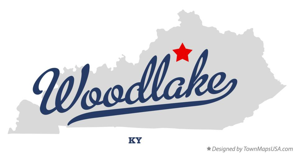Map of Woodlake Kentucky KY