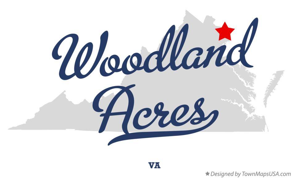 Map of Woodland Acres Virginia VA