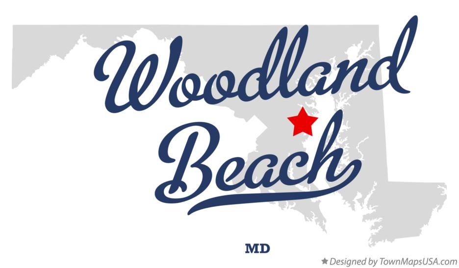 Map of Woodland Beach Maryland MD