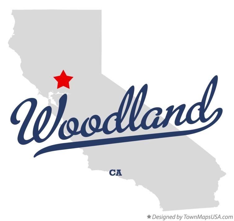 Map of Woodland California CA
