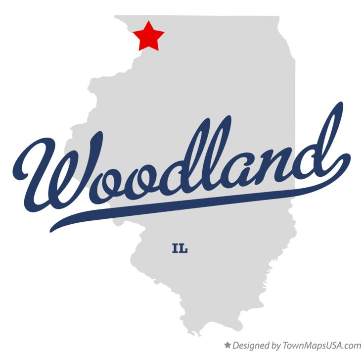 Map of Woodland Illinois IL