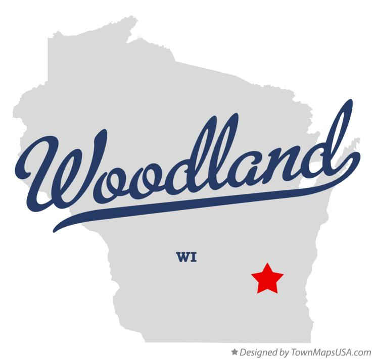 Map of Woodland Wisconsin WI