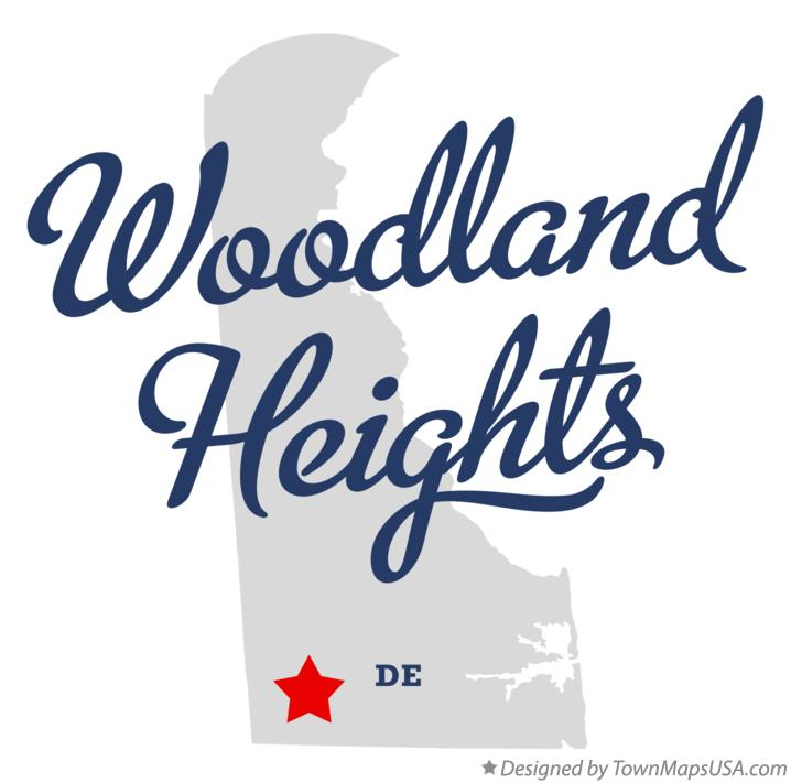 Map of Woodland Heights Delaware DE