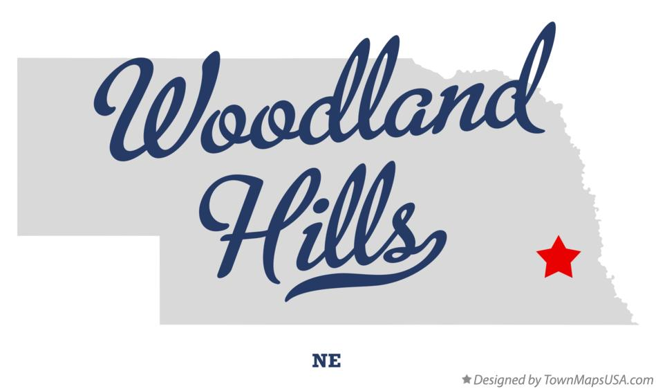 Map of Woodland Hills Nebraska NE