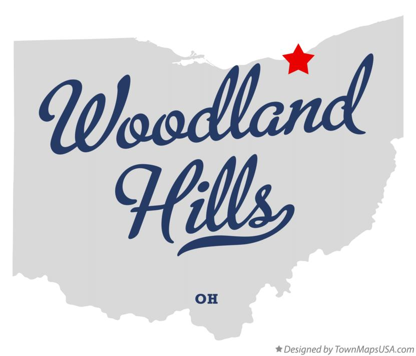 Map of Woodland Hills Ohio OH