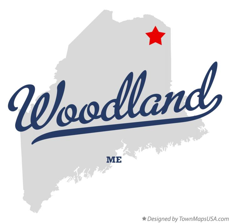 Map of Woodland Maine ME