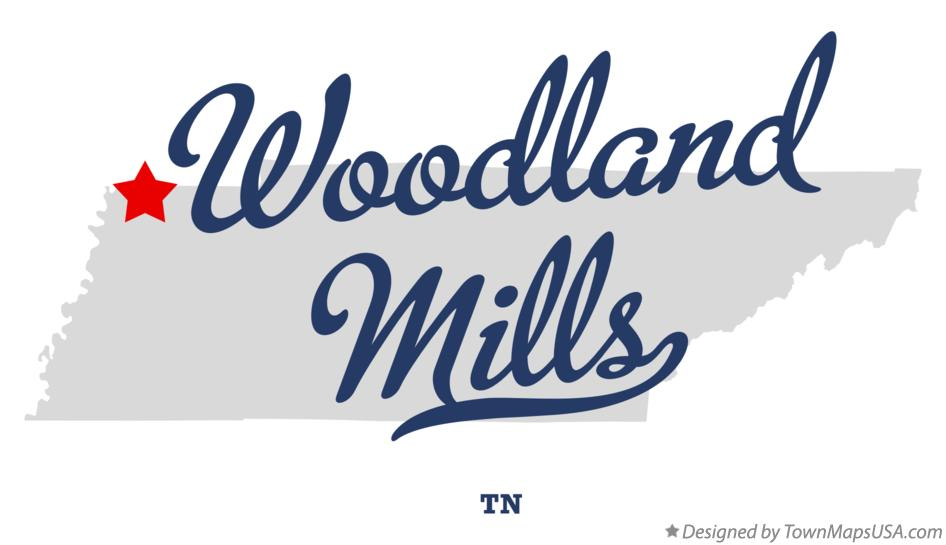 Map of Woodland Mills Tennessee TN