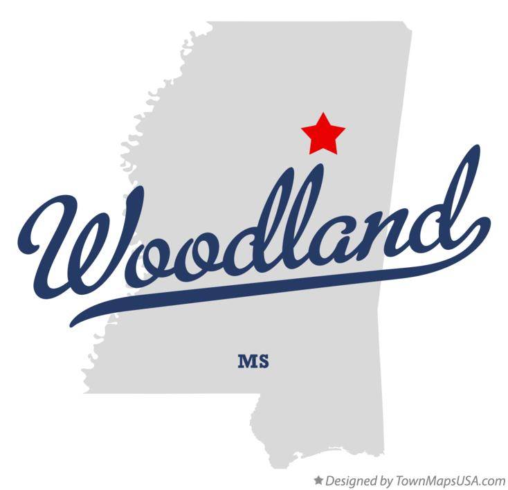 Map of Woodland Mississippi MS
