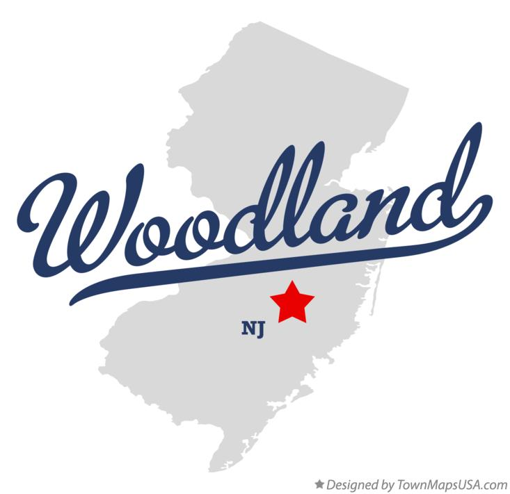 Map of Woodland New Jersey NJ
