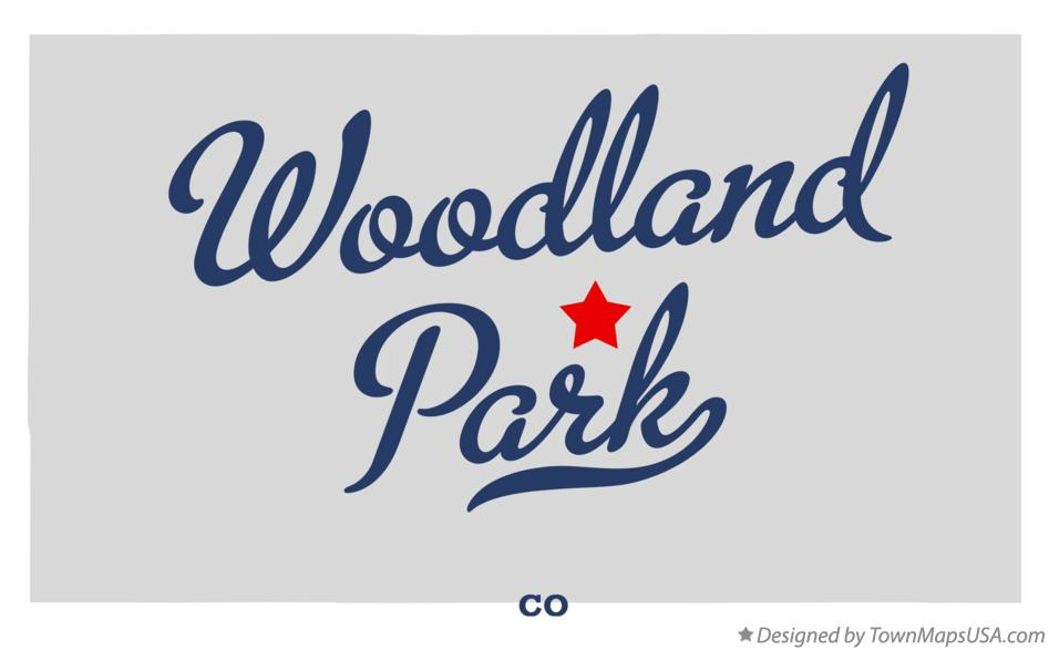 Map of Woodland Park Colorado CO