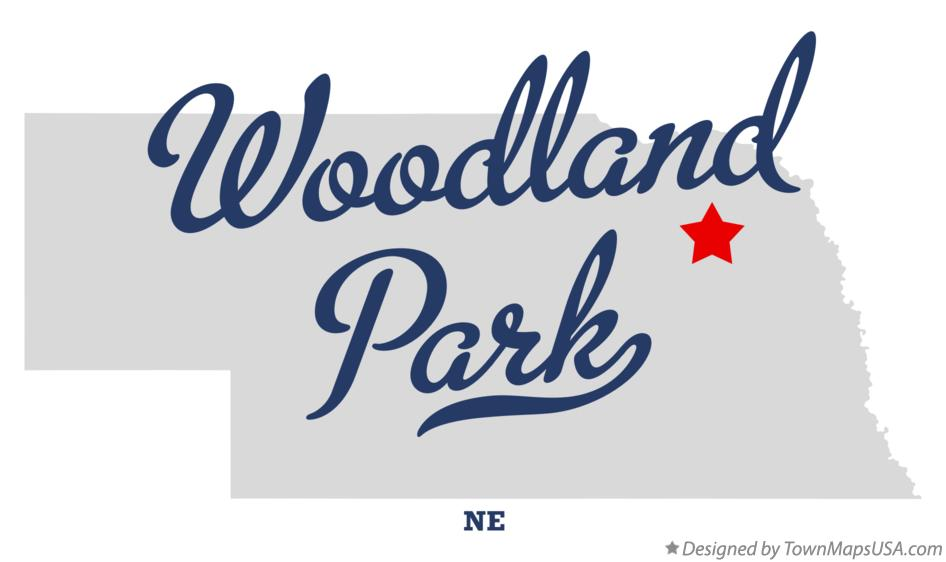 Map of Woodland Park Nebraska NE