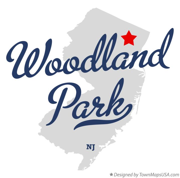 Map of Woodland Park New Jersey NJ