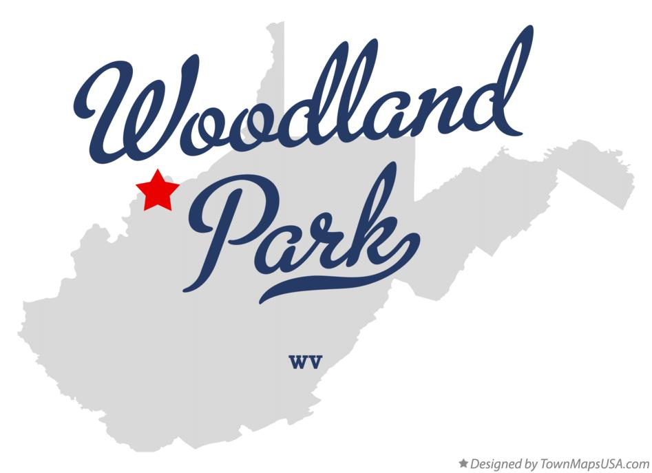 Map of Woodland Park West Virginia WV
