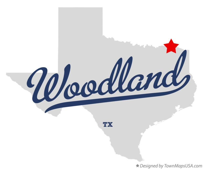 Map of Woodland Texas TX