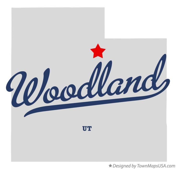 Map of Woodland Utah UT