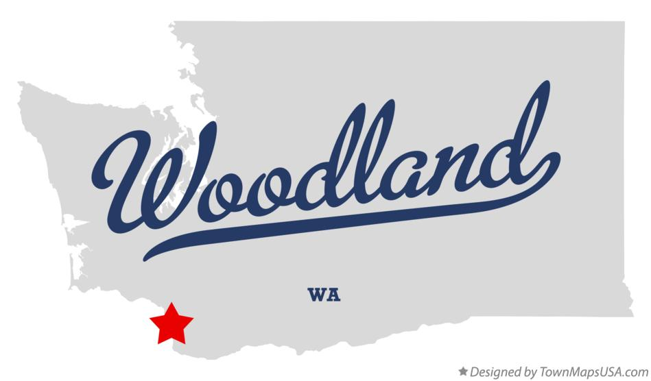 Map of Woodland, WA, Washington