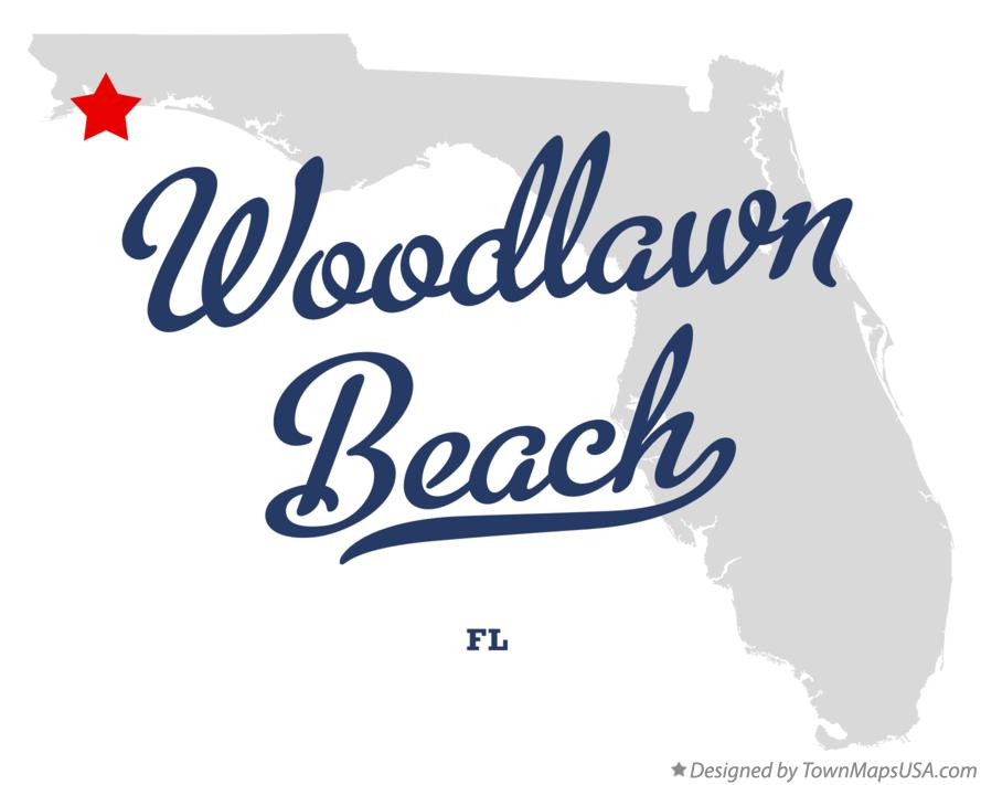 Map of Woodlawn Beach Florida FL