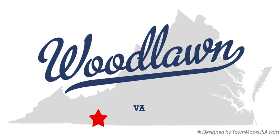 Map of Woodlawn Virginia VA