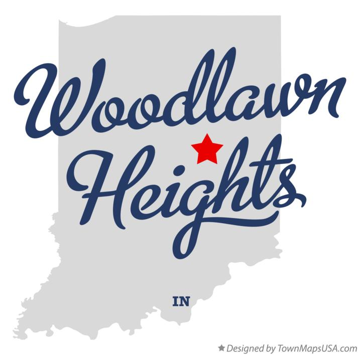 Map of Woodlawn Heights Indiana IN