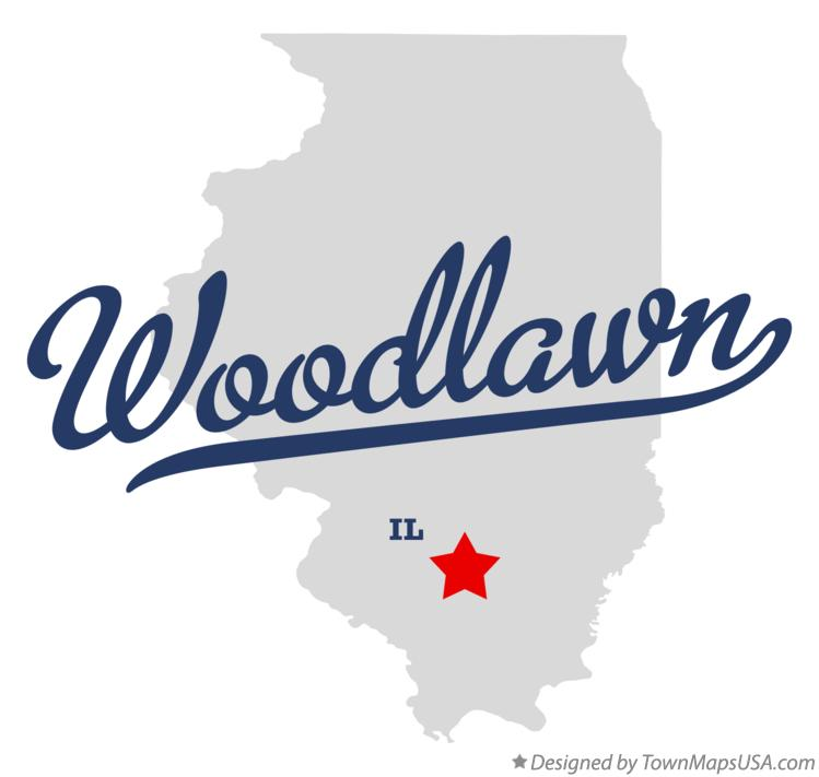 Map of Woodlawn Illinois IL